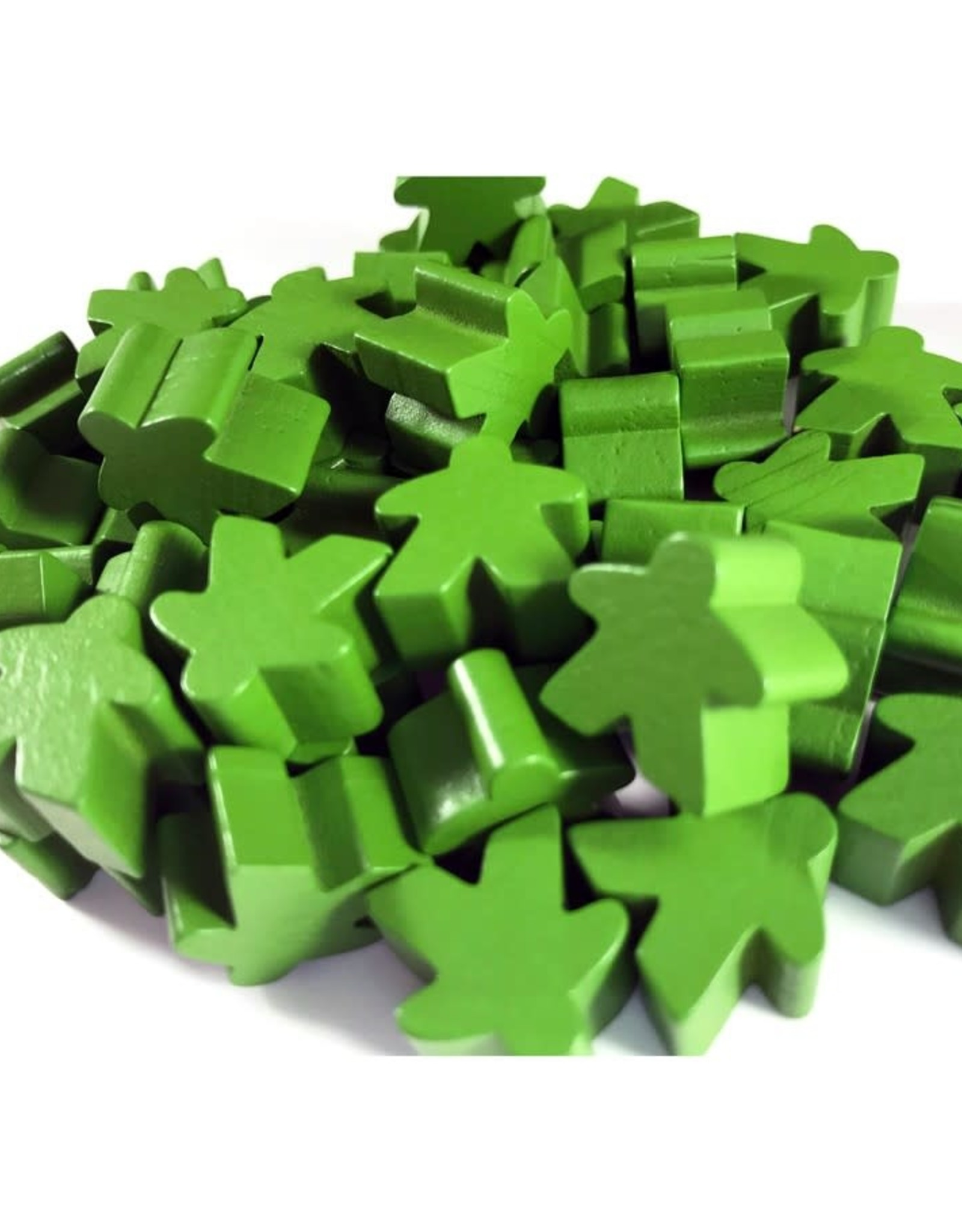 Apostrophe Games Wooden Meeples (50) Green