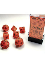Chessex Polyhedral Dice Set: Vortex Orange (7)