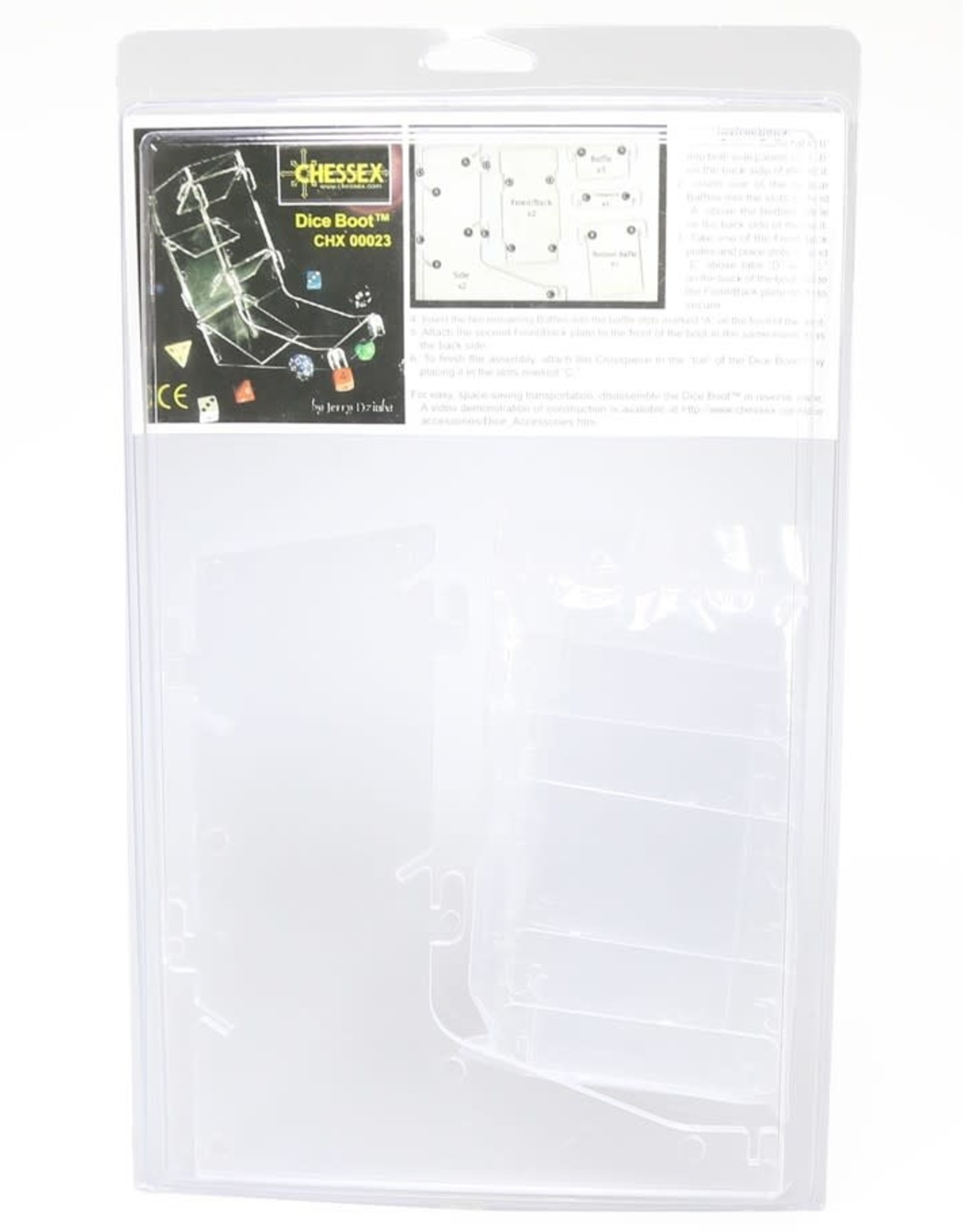 Chessex Dice Tower: Clear Plastic