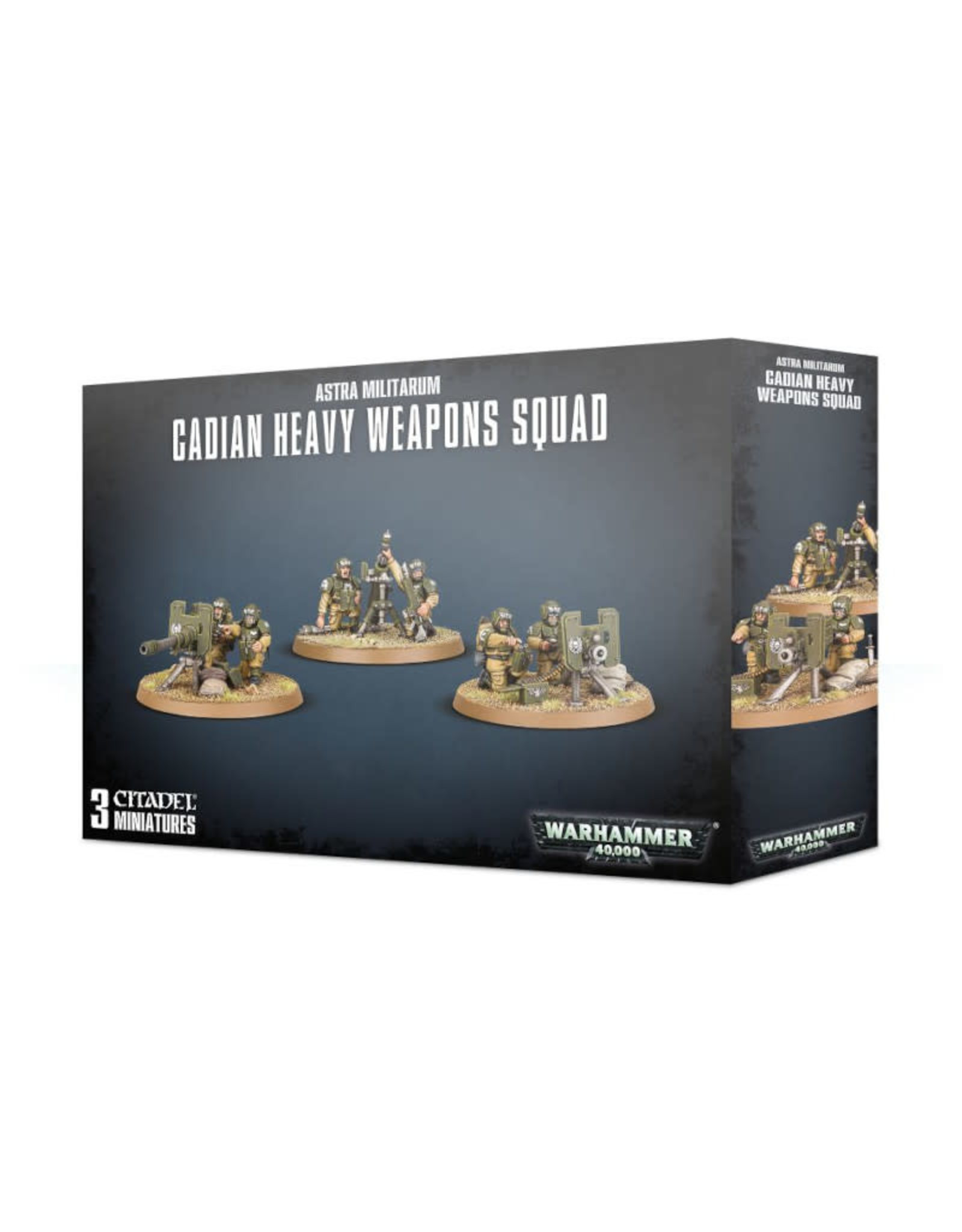 Games Workshop Warhammer 40K Astra Militarum Cadian Heavy Weapon Squad
