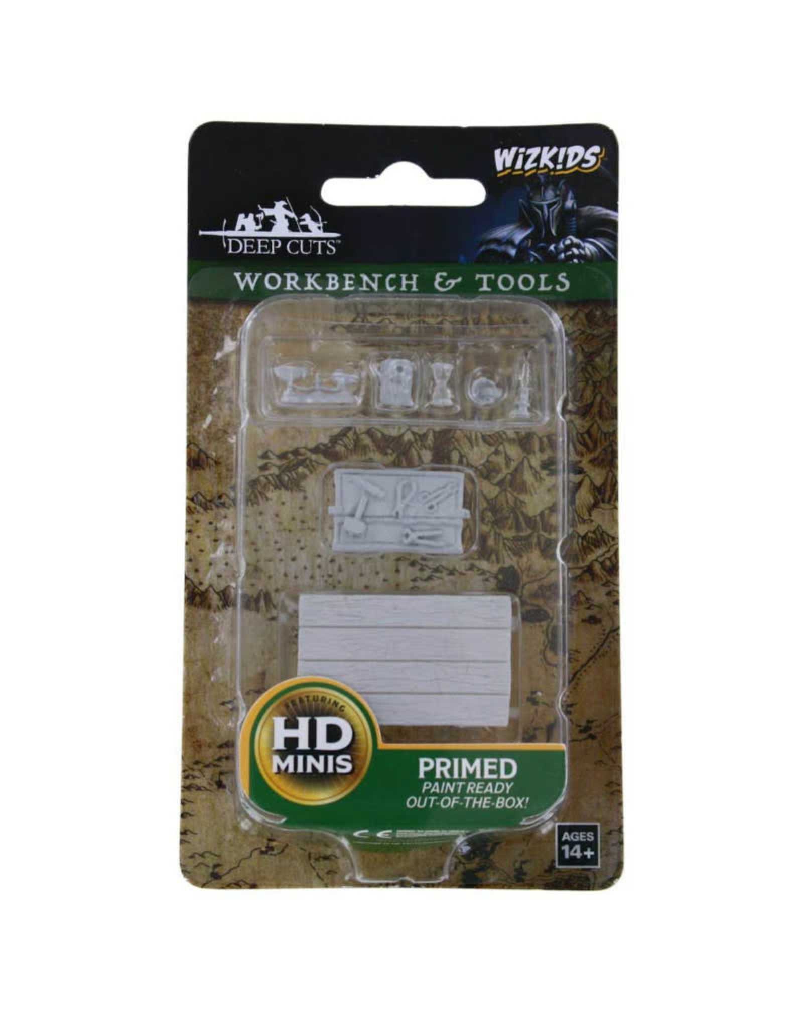 Wizkids Deep Cuts Unpainted Minis: Workbench and Tools