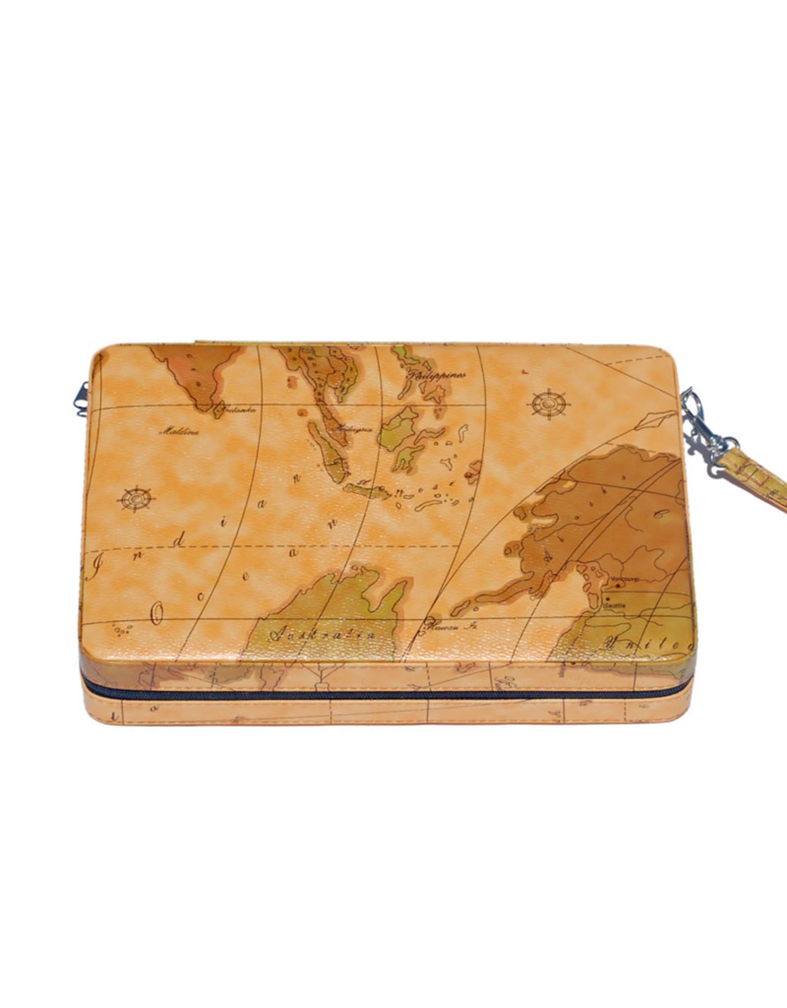 Tan Map Style Travel Backgammon