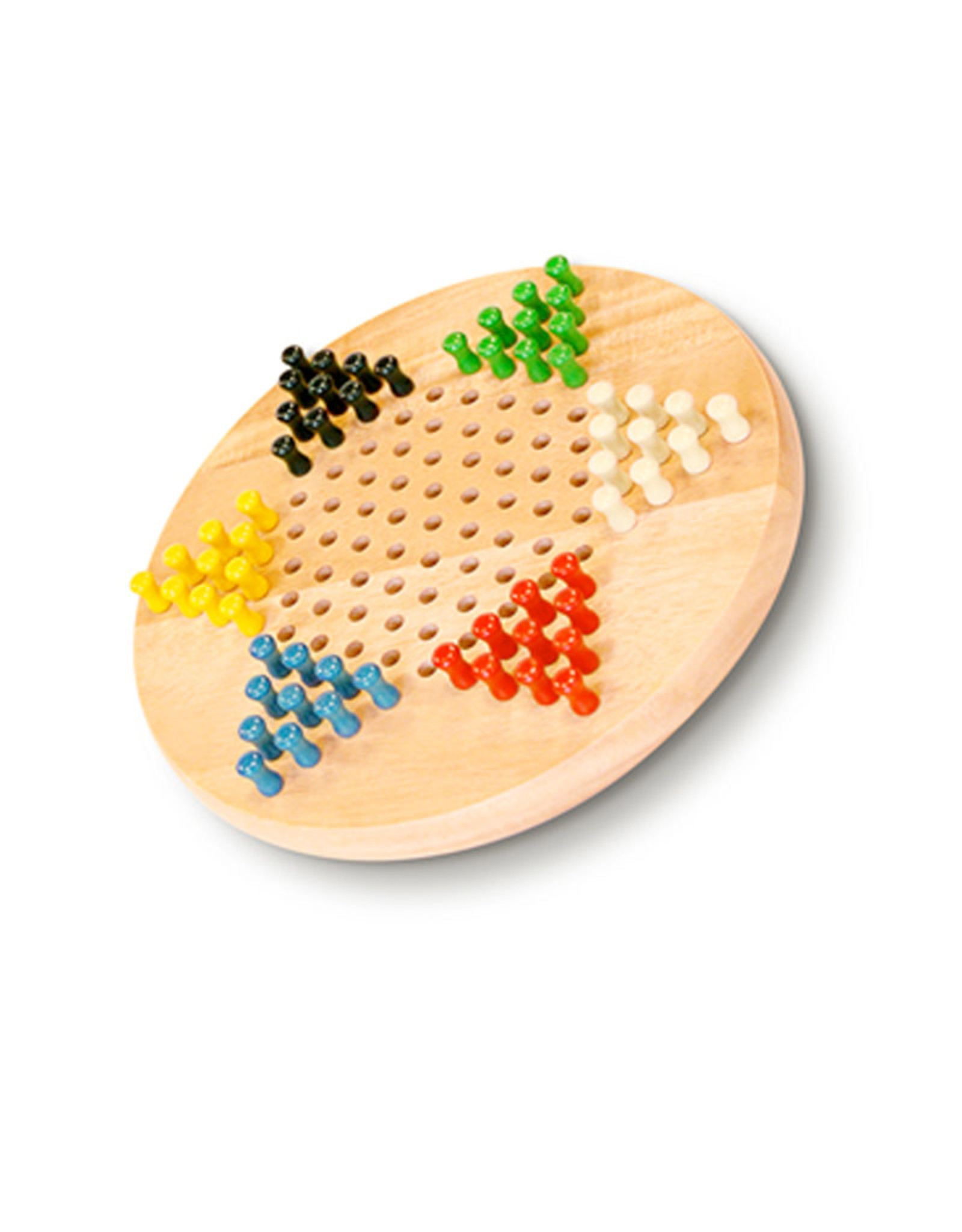 Chinese Checkers WE 7'' Wooden With Pegs