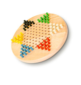 CHINESE CHECKERS WE 7'' WOODEN W PEGS