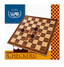 CHECKERS WE 12'' WALNUT NATURAL WOOD