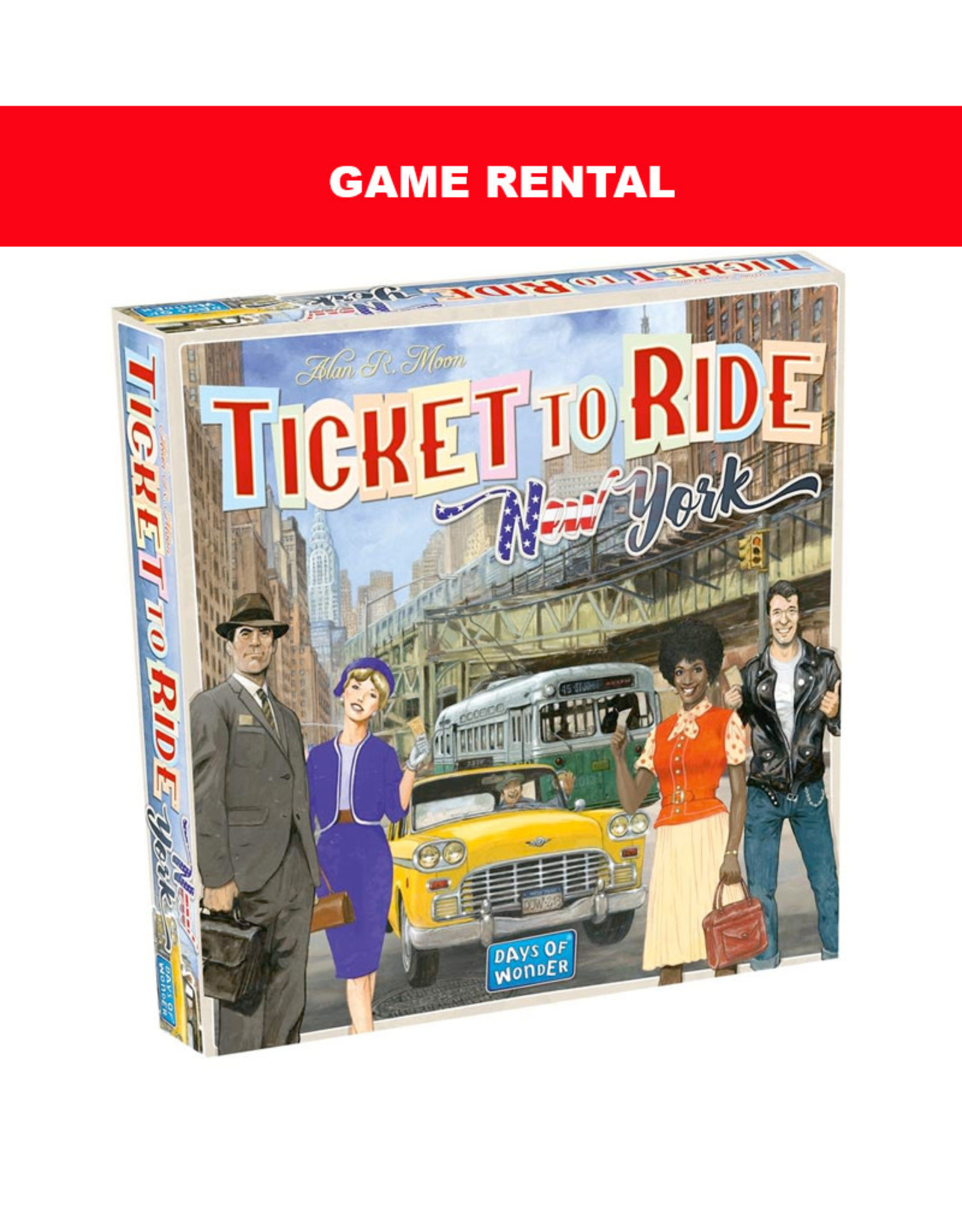 Days of Wonder (RENT) Ticket to Ride New York for a Day. Love It! Buy It!