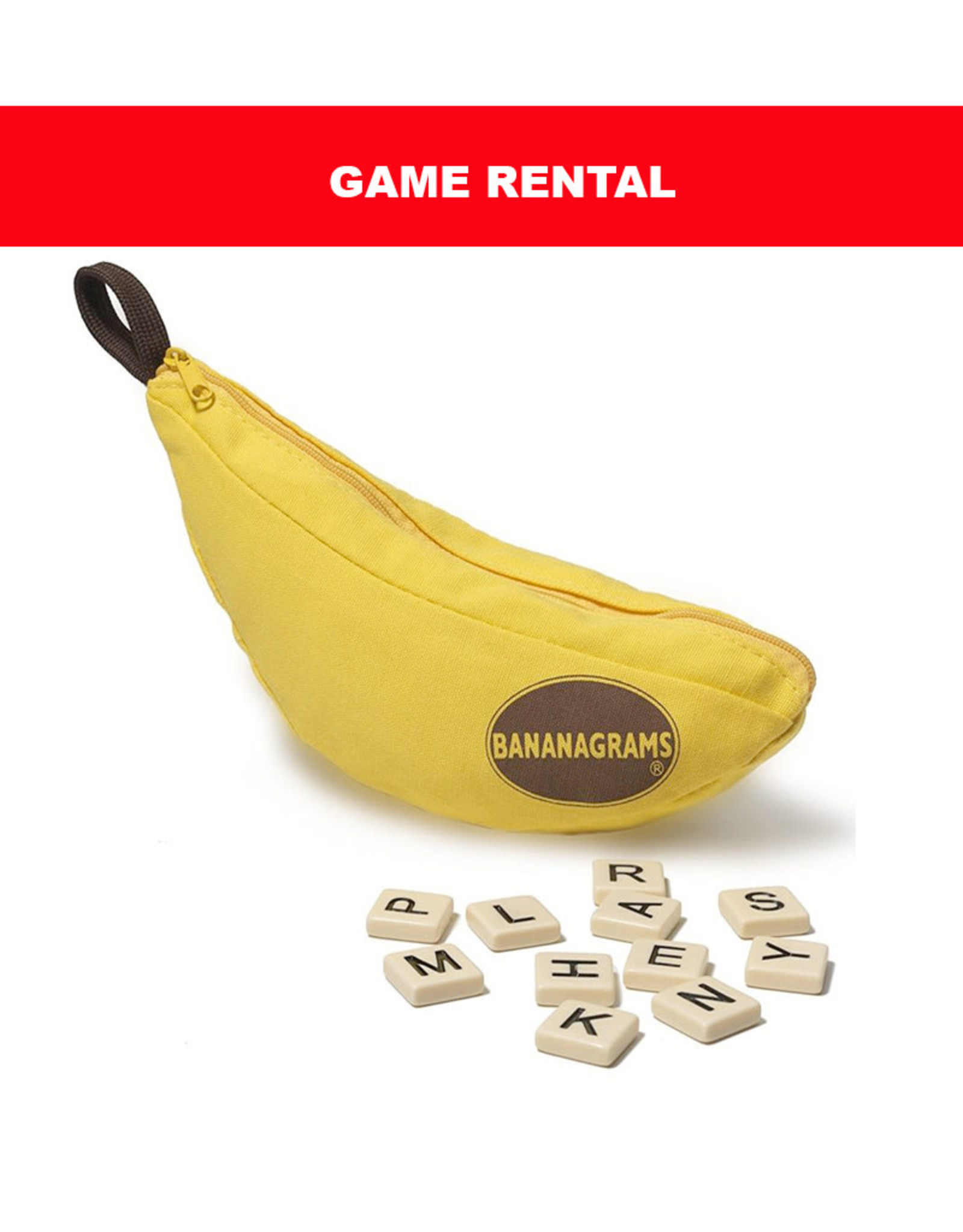 Bananagrams (RENT) Bananagrams for a Day. Love It! Buy It!