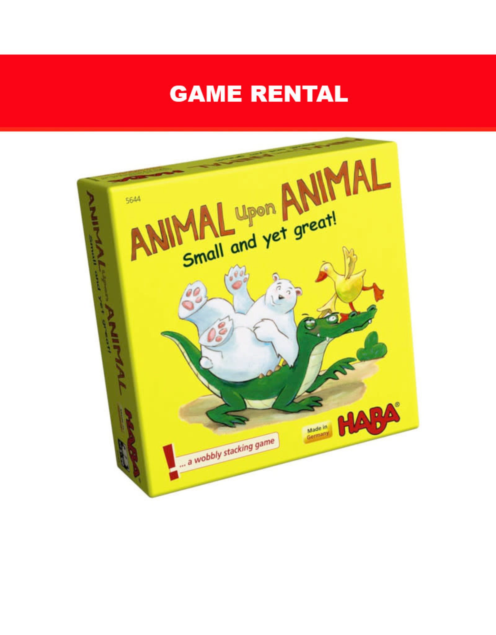 (RENT) Animal Upon Animal Small, Yet Great for a Day. Love It! Buy It!