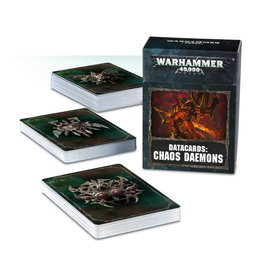 Games Workshop Warhammer 40K Datacards Chaos Daemons (8th Edition)