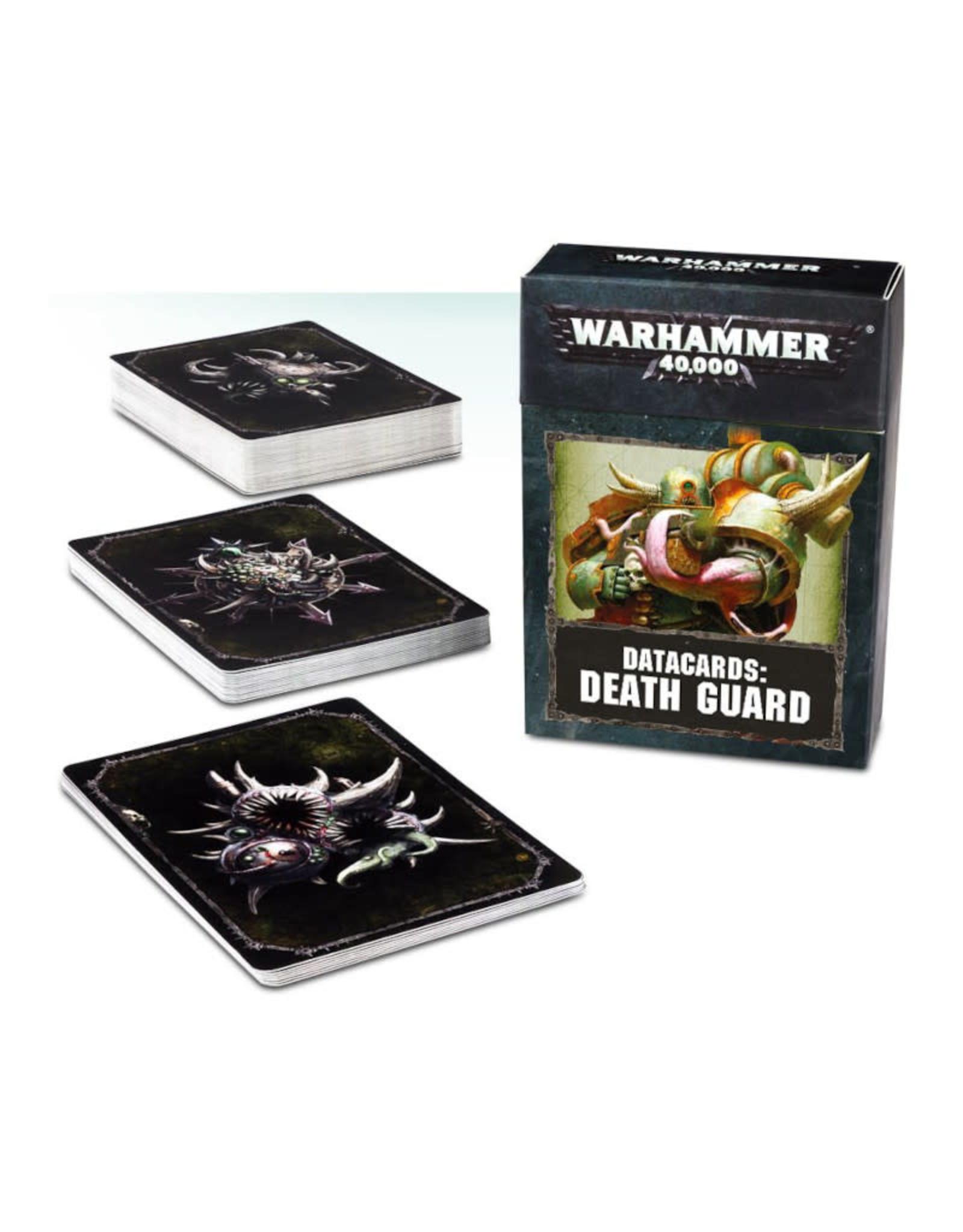 Games Workshop Warhammer 40K Datacards Death Guard (8th Edition)