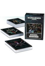 Games Workshop Warhammer 40K Datacards Drukhari (8th Edition)