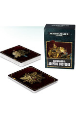 Games Workshop Warhammer 40K Datacards Adeptus Custodes (8th Edition)