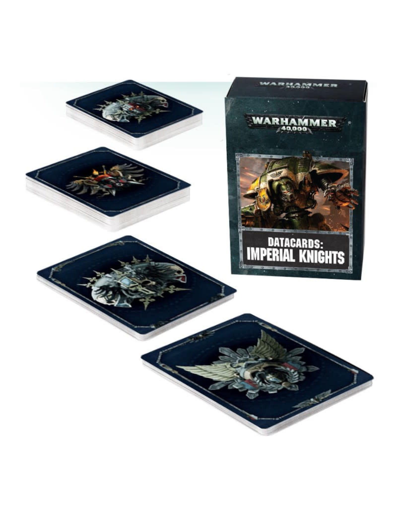 Games Workshop Warhammer 40K Datacards Imperial Knights (8th Edition)