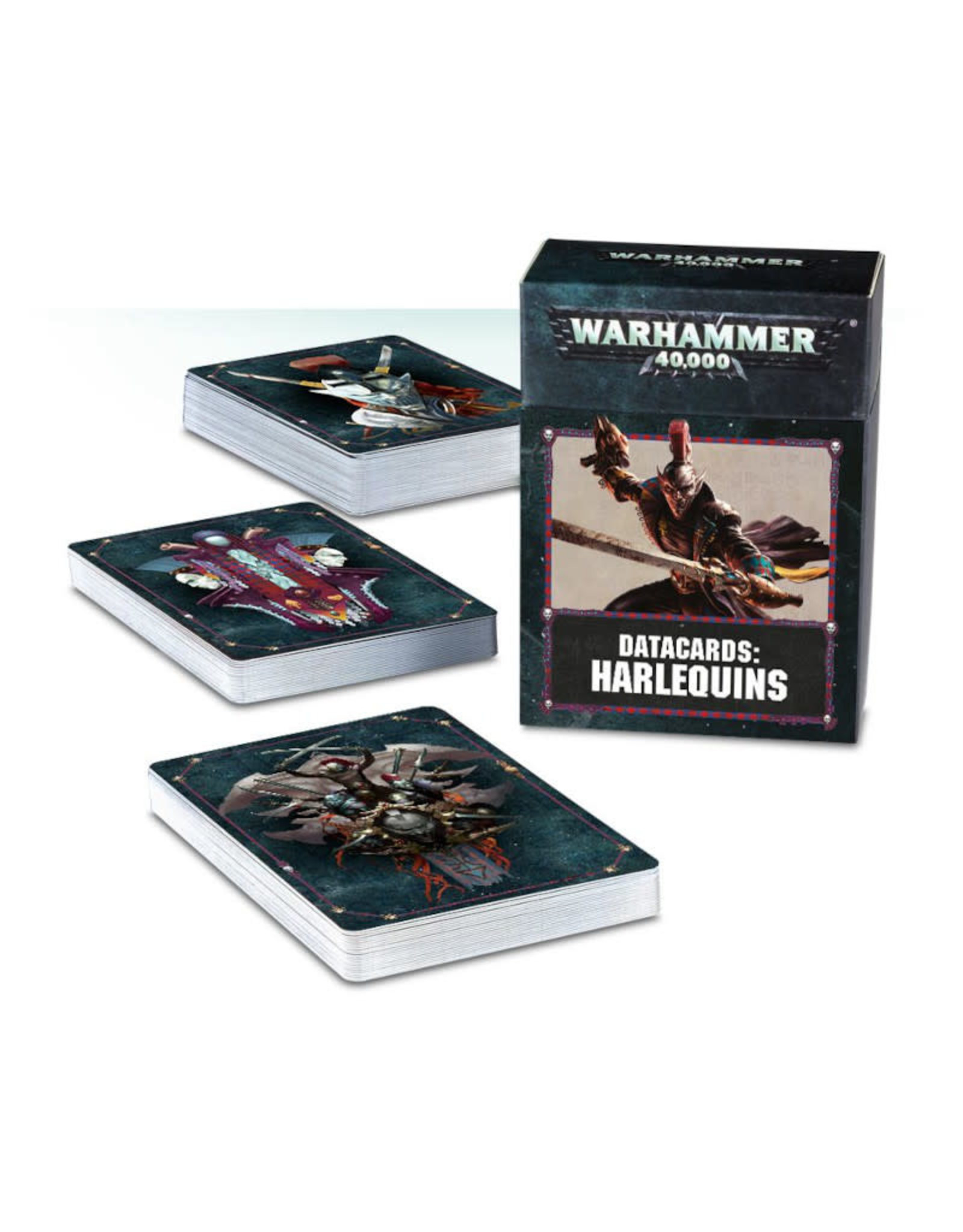 Games Workshop Warhammer 40K Datacards Harlequins (8th Edition)