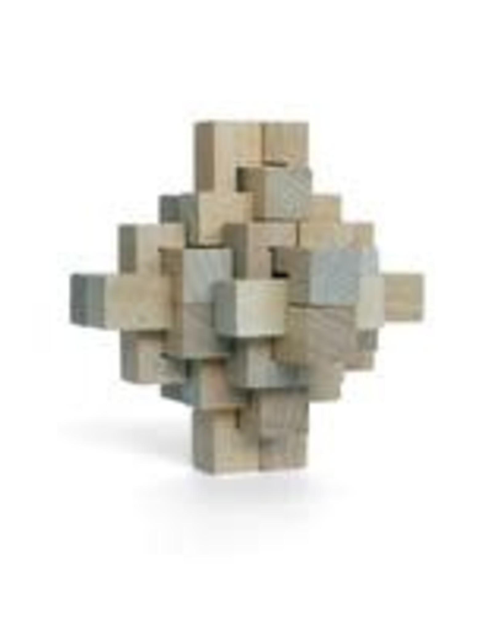 Wooden Puzzle: Geometric Diamond