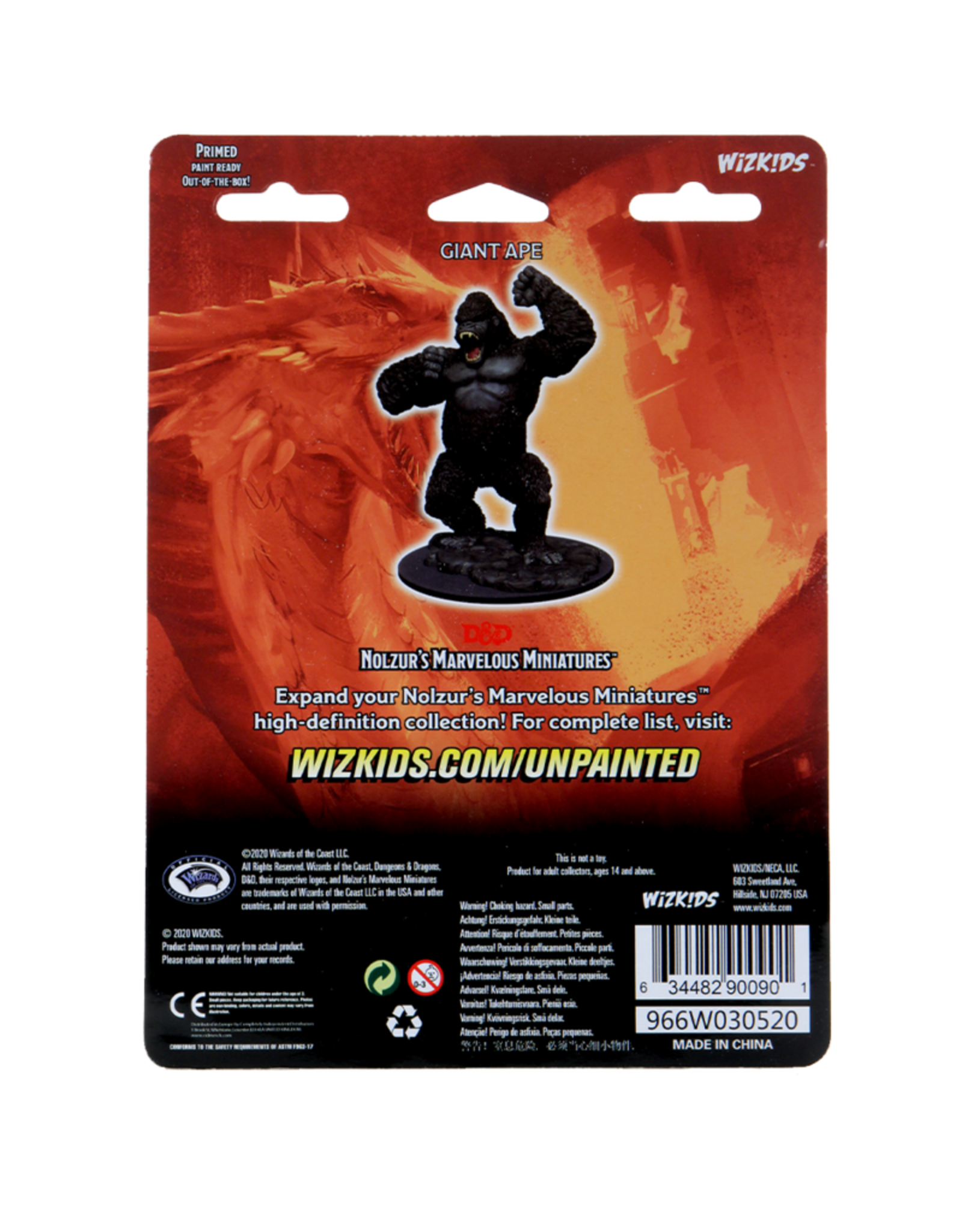 Wizkids D&D Unpainted Minis: Giant Ape
