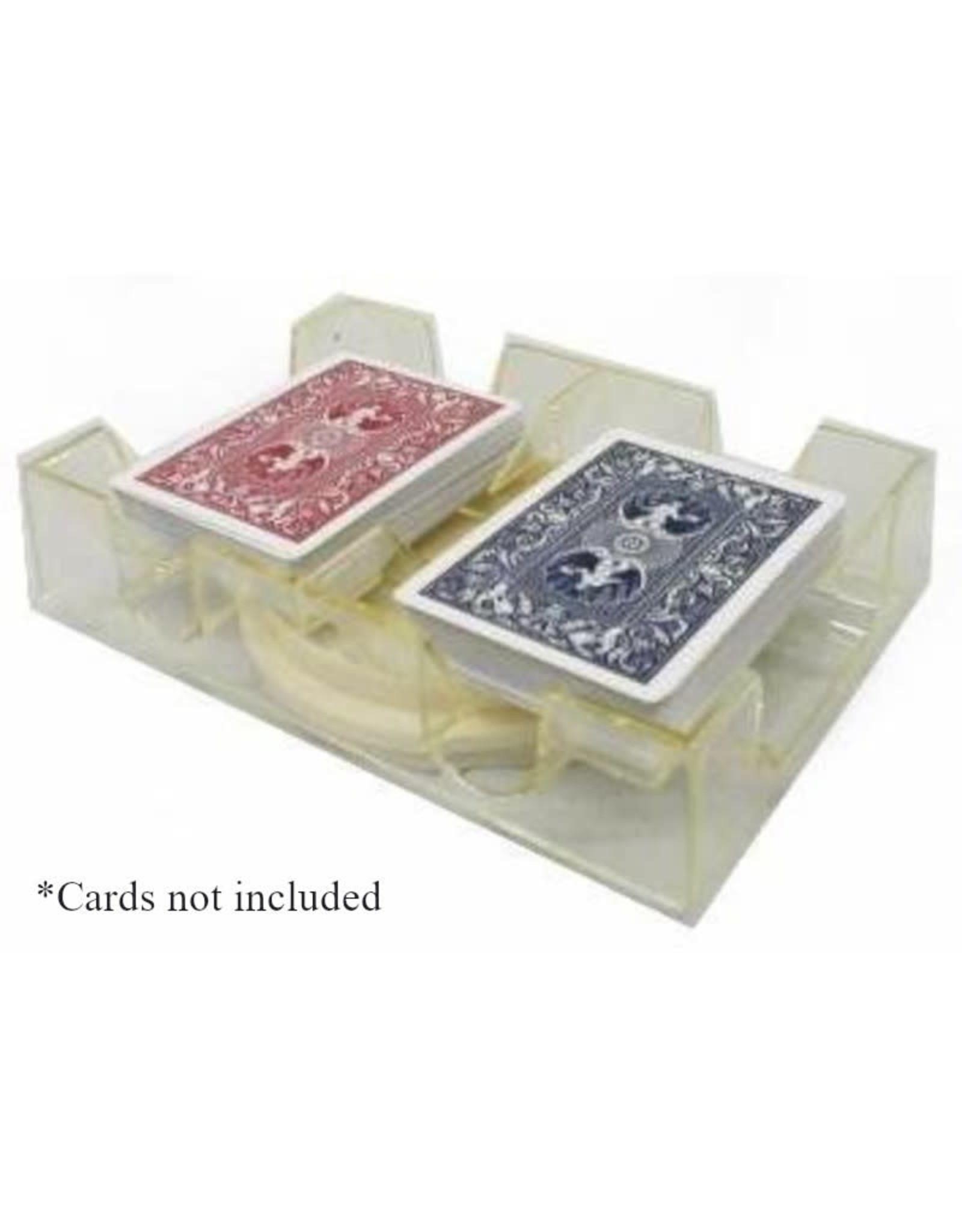 Revolving Clear Acrylic Card Holder: 2 Deck