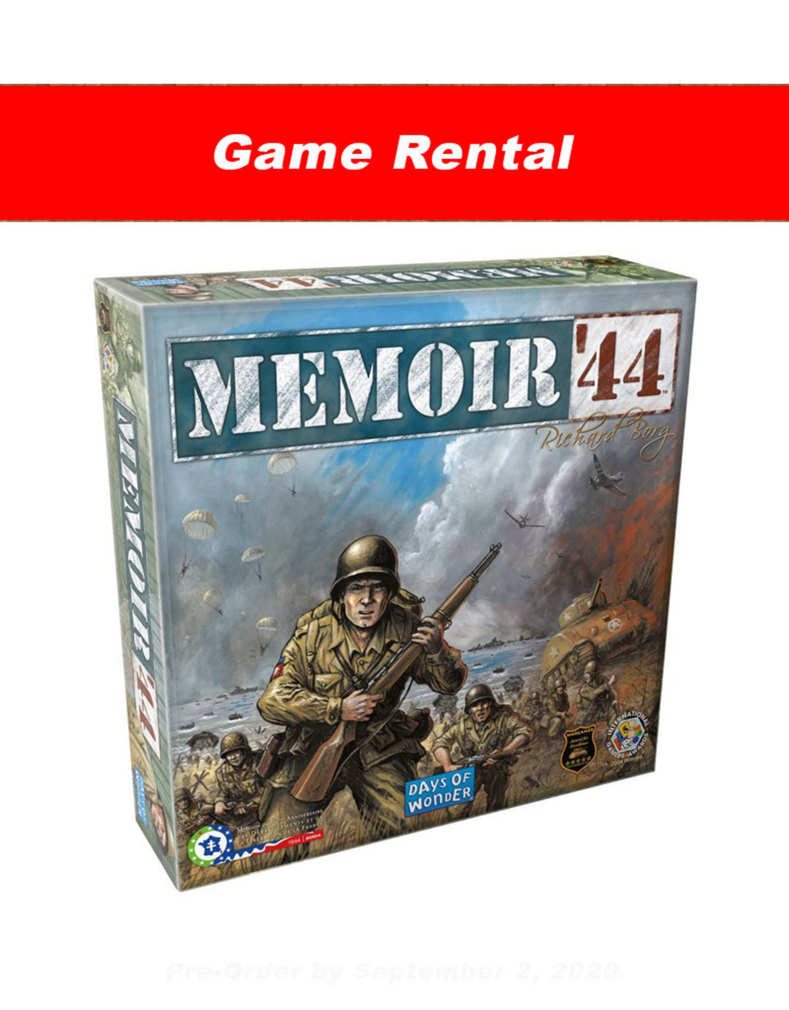 Days of Wonder (RENT) MEMOIR 44 for a Day. Love It! Buy It!