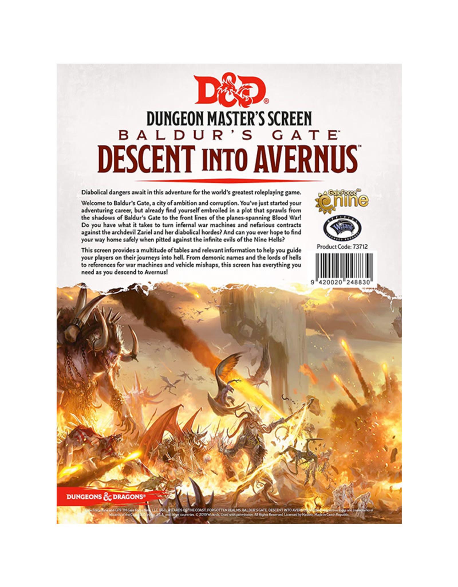Gale Force 9 D&D RPG: Baldur's Gate Descent into Avernus GM Screen