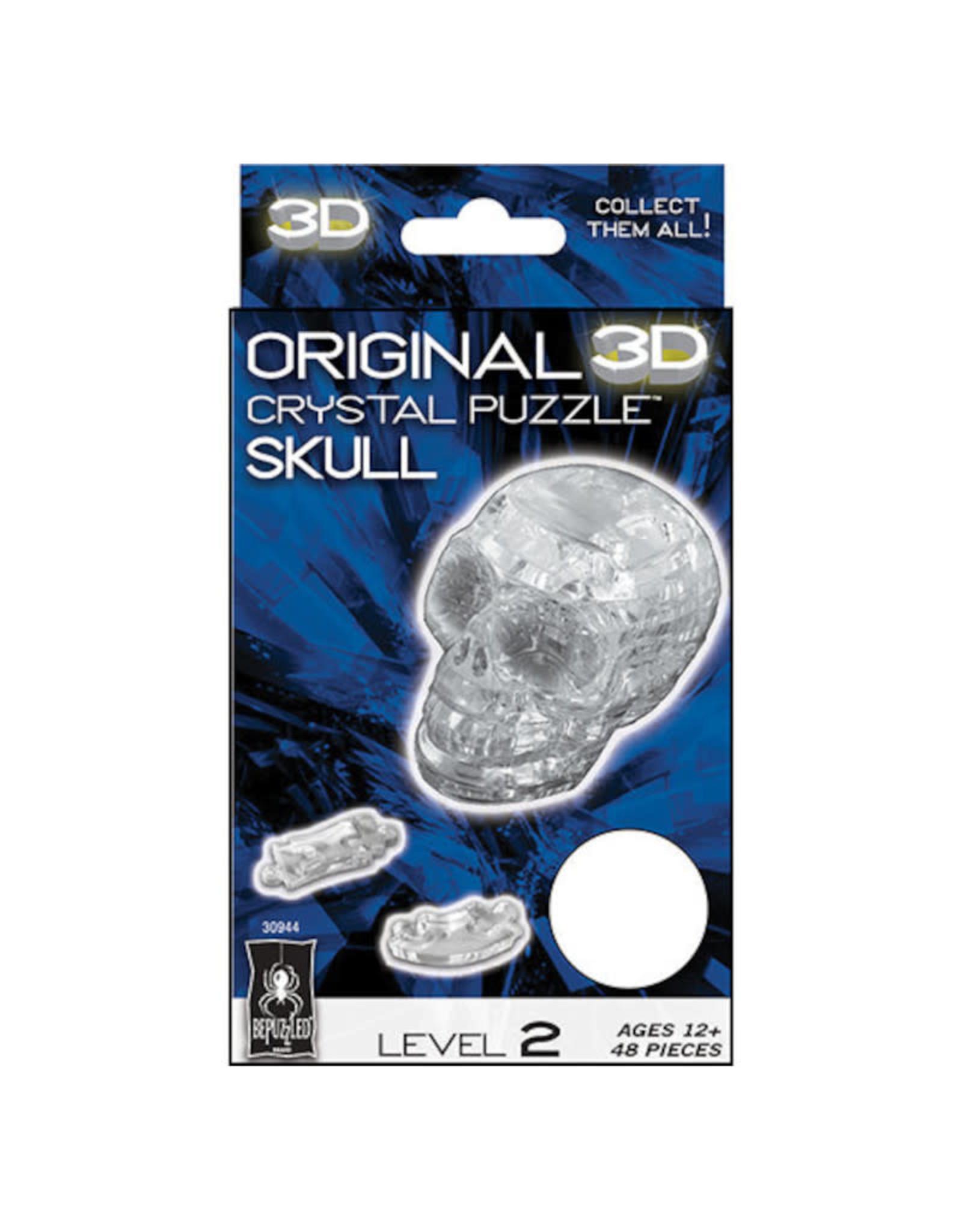 University Games 3D Crystal Skull Clear Puzzle 48 PCS