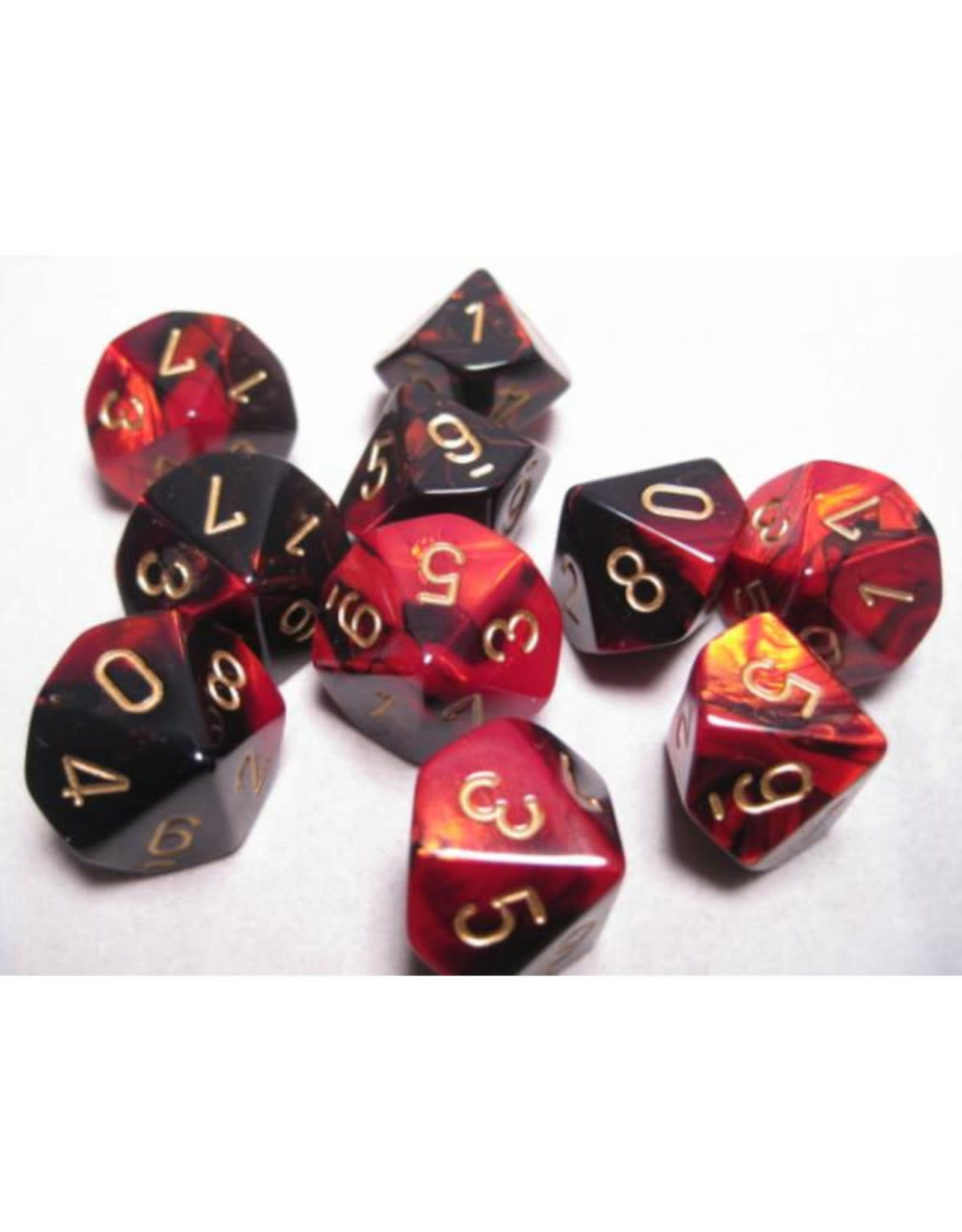 Chessex D10 Dice: Gemini Black and Red (10)