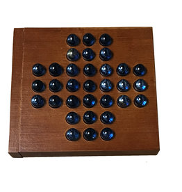 """Marble Solitaire 5"""" Travel Wooden Board"""