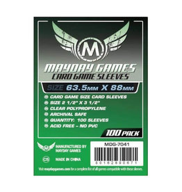 Mayday Games Sleeves: Standard Card Game (100) (Green)