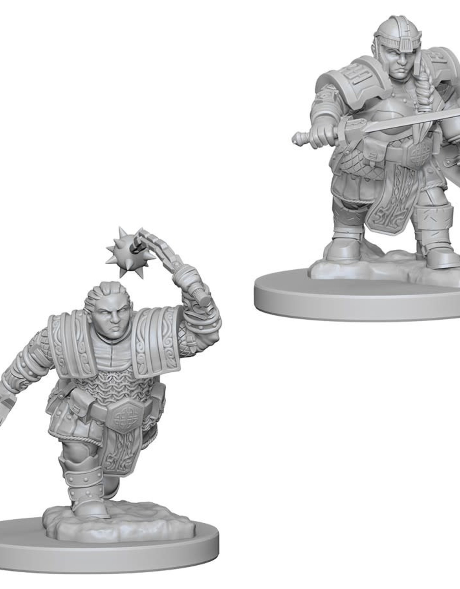 Wizkids D&D Unpainted Minis: Dwarf Fighter Female