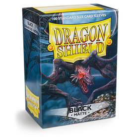 Arcane Tinmen Deck Protectors: Dragon Shield Matte (100) Black