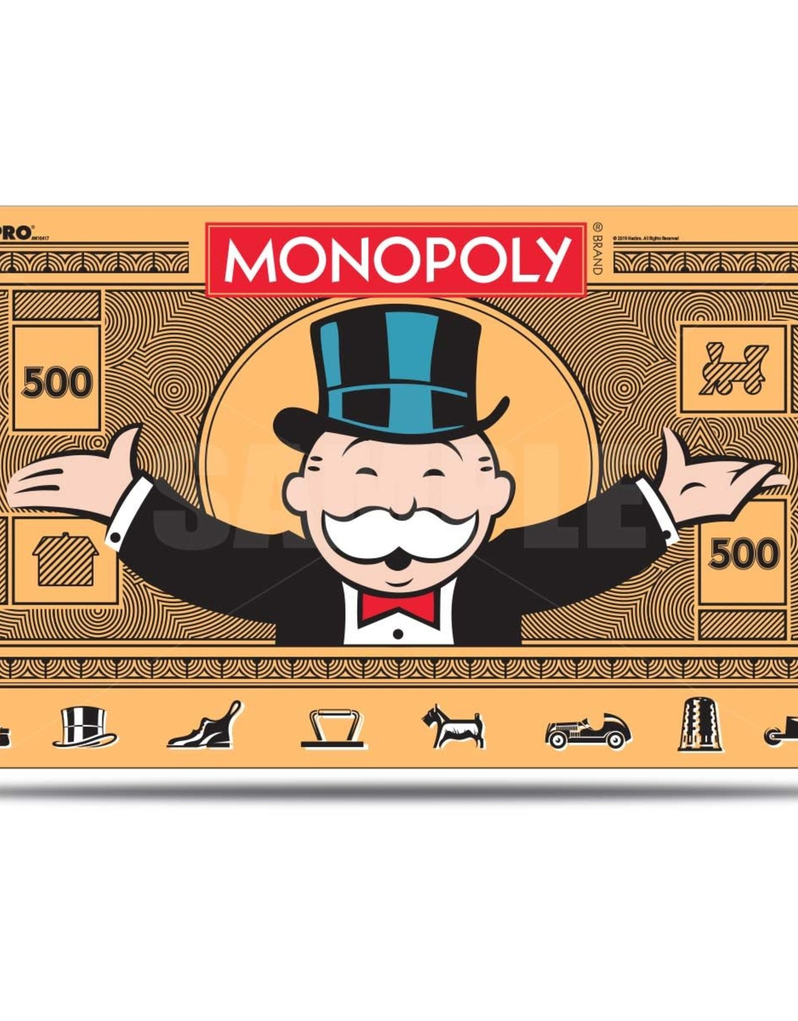 Playmat: Monopoly $500 Bill w/ Tube