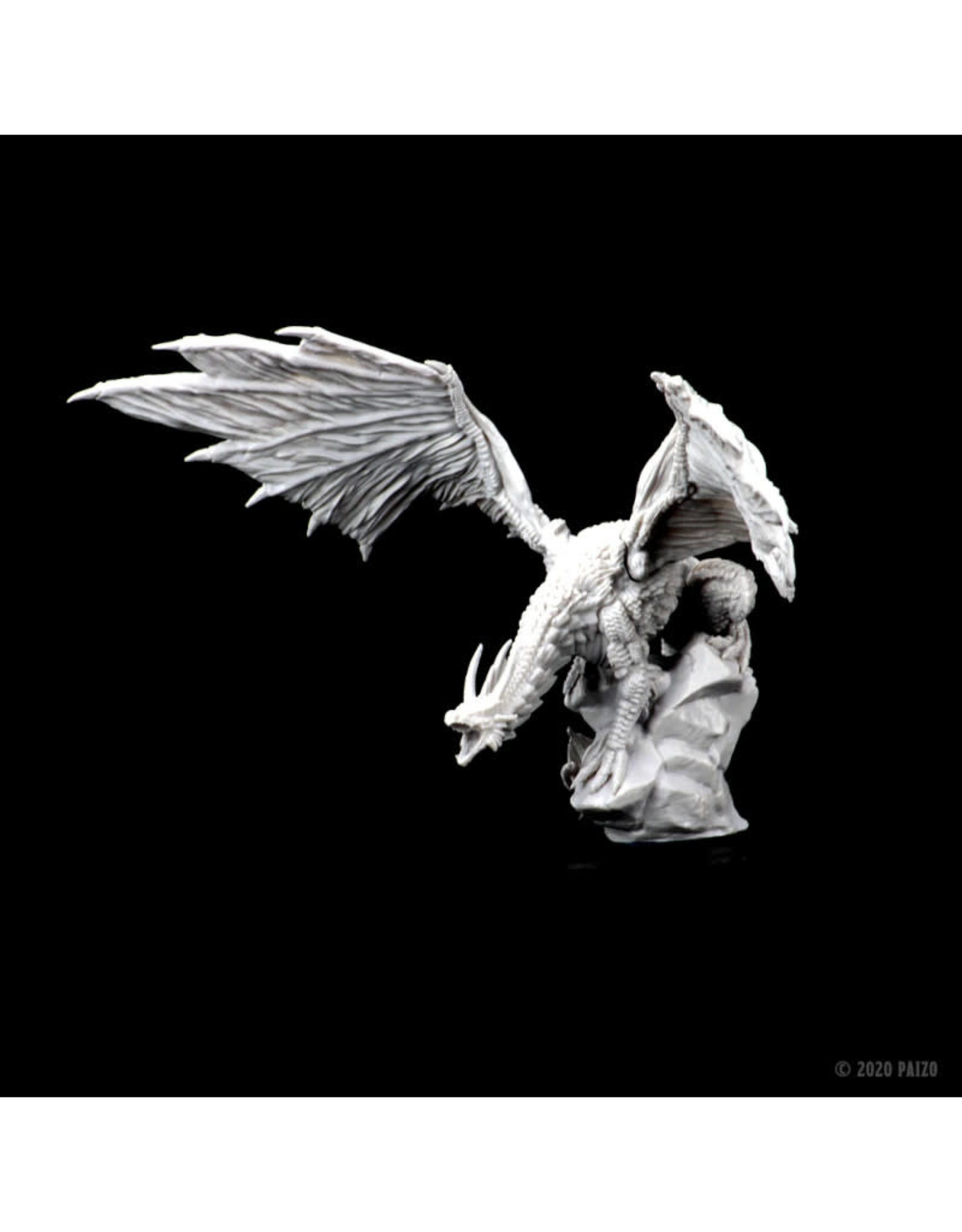 Wizkids Deep Cuts Unpainted Minis: Silver Dragon