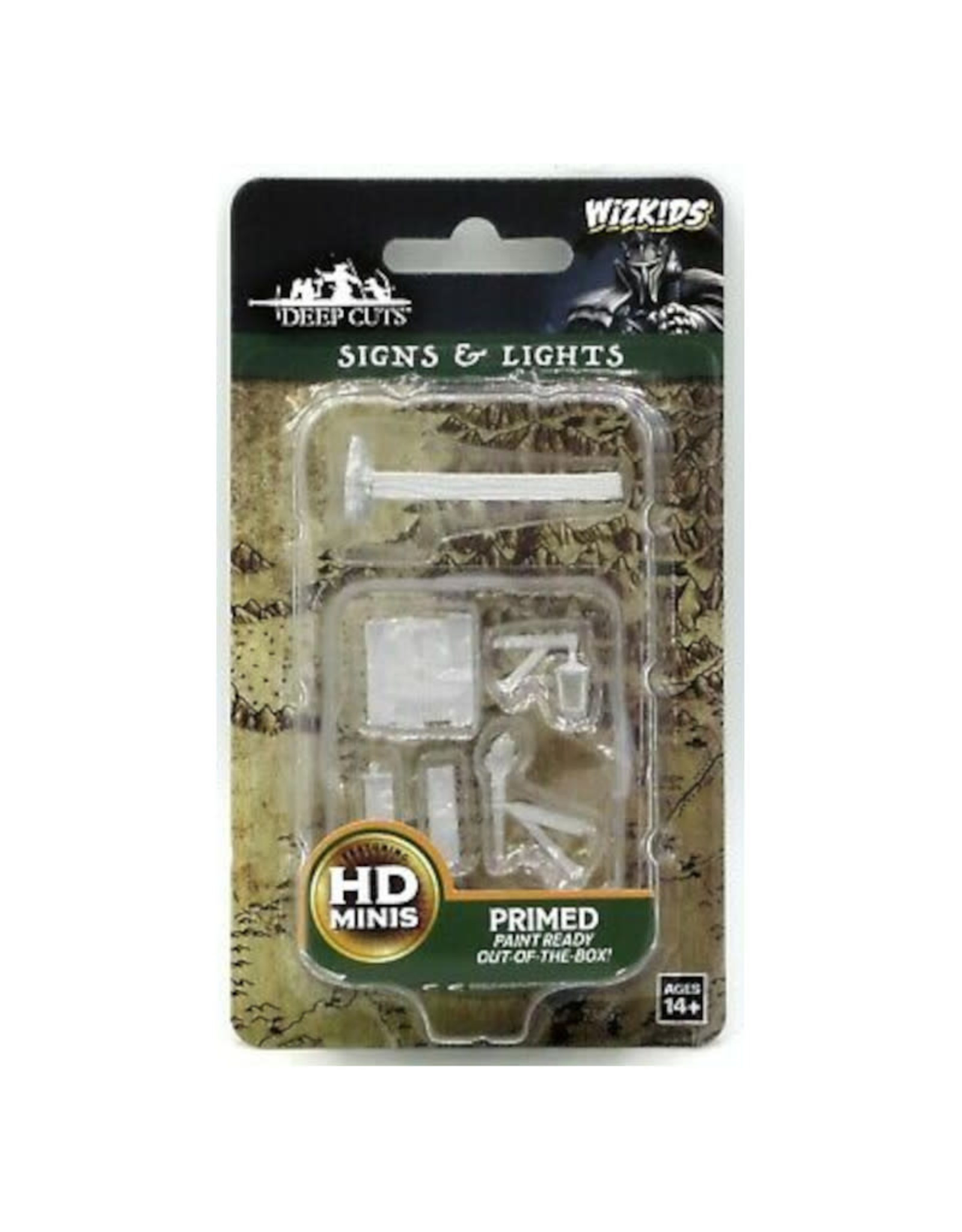 Wizkids Deep Cuts Unpainted Minis: Signs and Lights