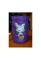 Game Night Games Dice Bag: Uber Dungeon Small Black Cat w/ Purple