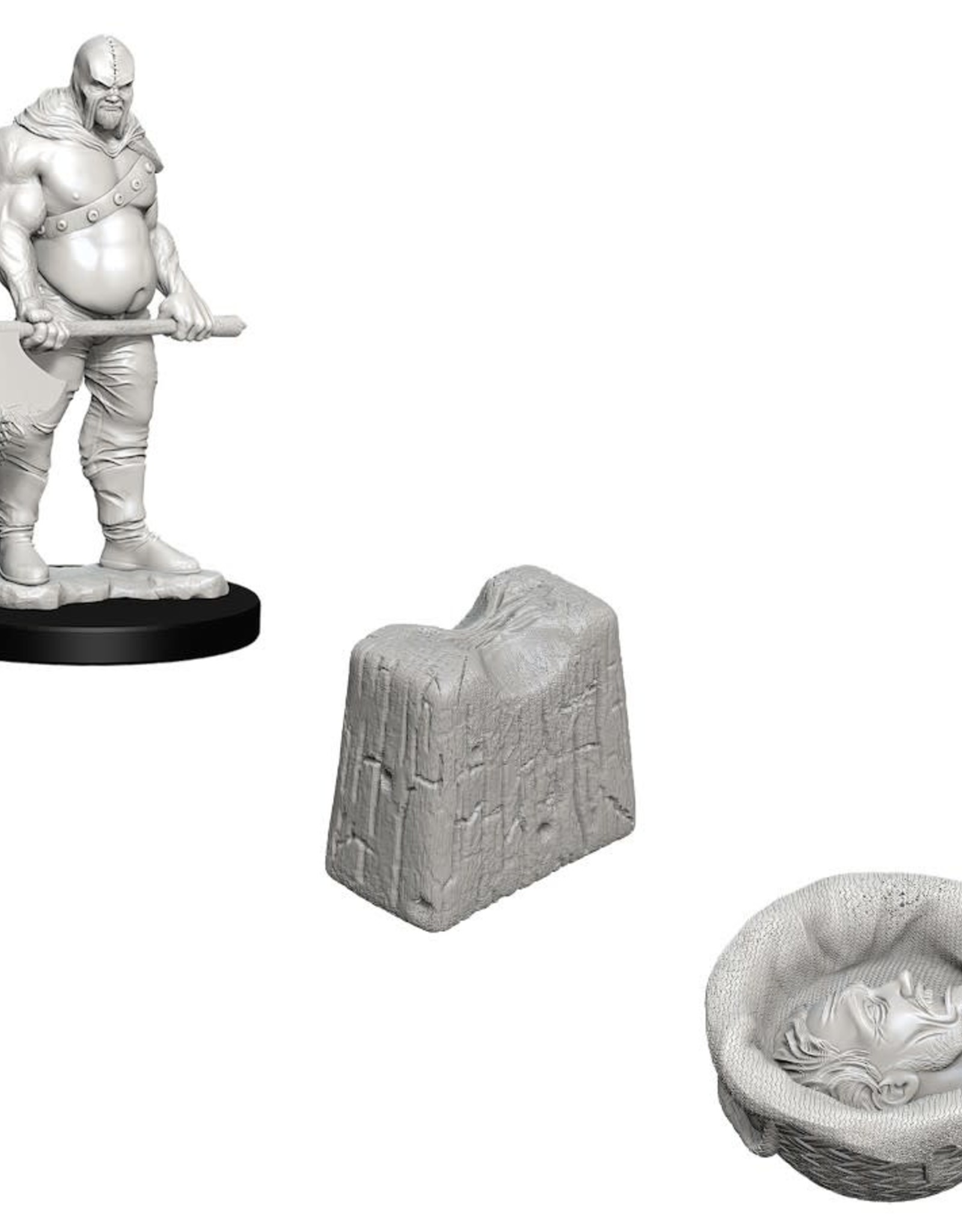 Wizkids Deep Cuts Unpainted Minis: Executioner and Chopping Block