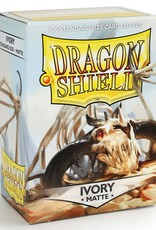 Arcane Tinmen Sleeves: Dragon Shield Matte (100) Ivory