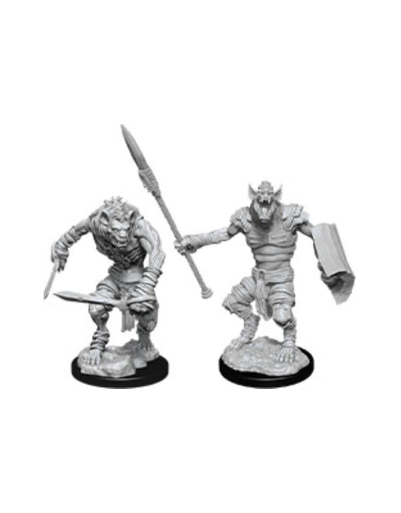Wizkids D&D Unpainted Minis: Gnoll & Gnoll Flesh Gnawer