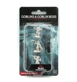Wizkids D&D Unpainted Minis: Goblins & Goblin Boss