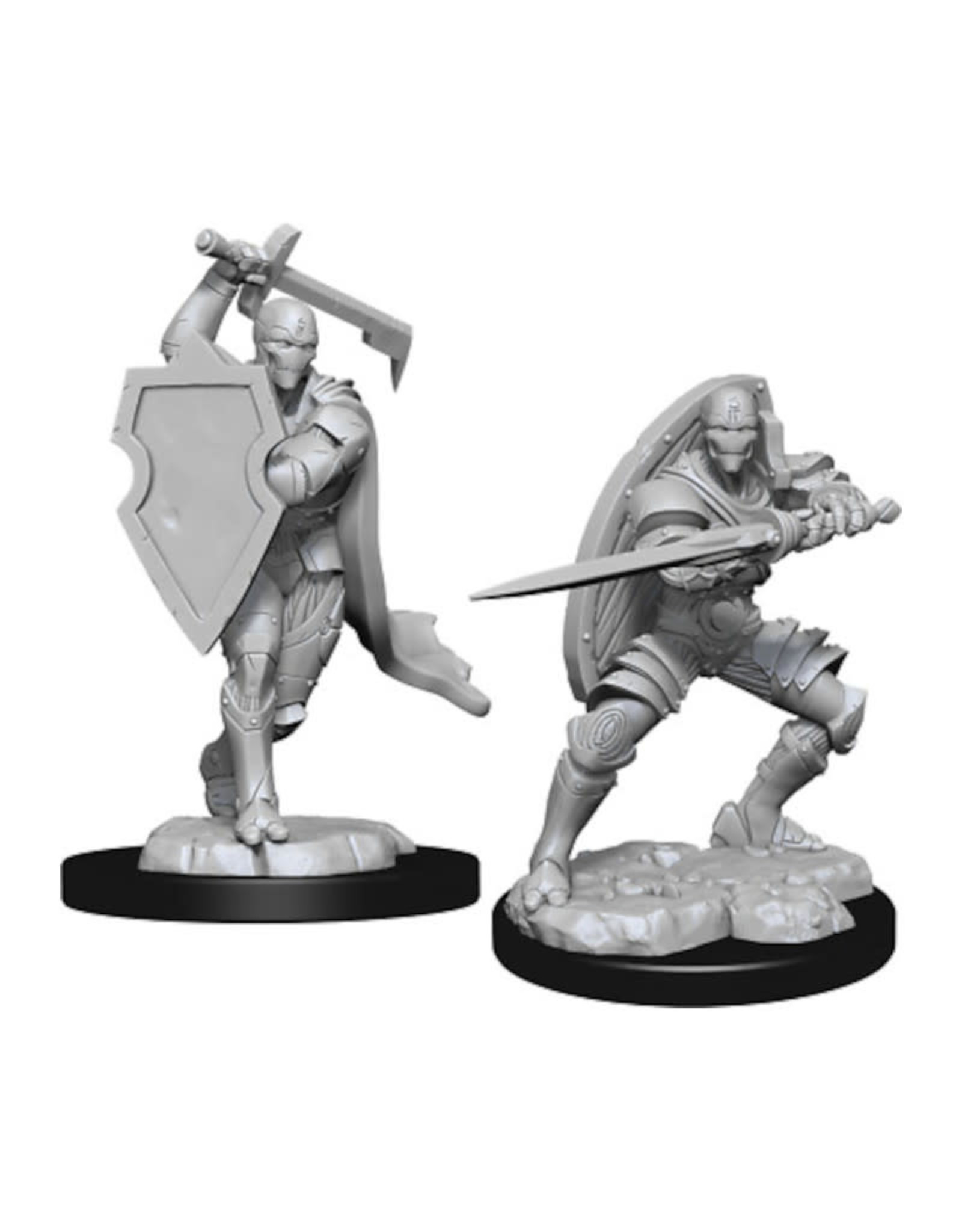Wizkids D&D Unpainted Minis: Warforged Fighter Male