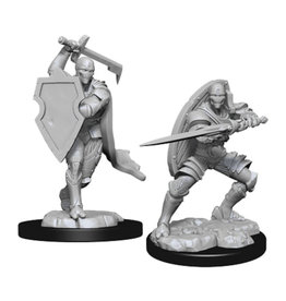 Wizkids D&D Unpainted Minis: Warforged Fighter Male