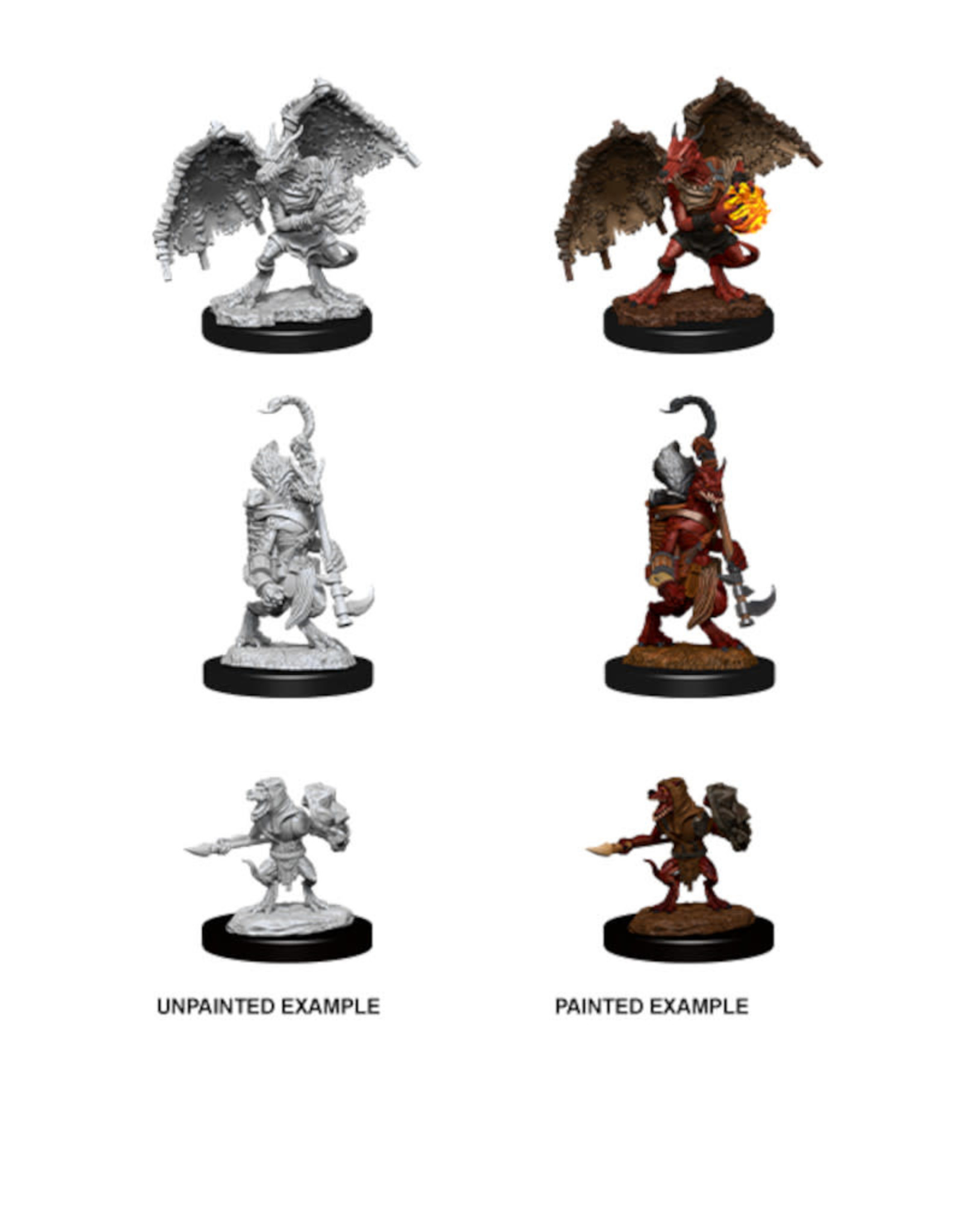 Wizkids D&D Unpainted Minis: Kobold Inventor, Dragonshield & Sorcerer