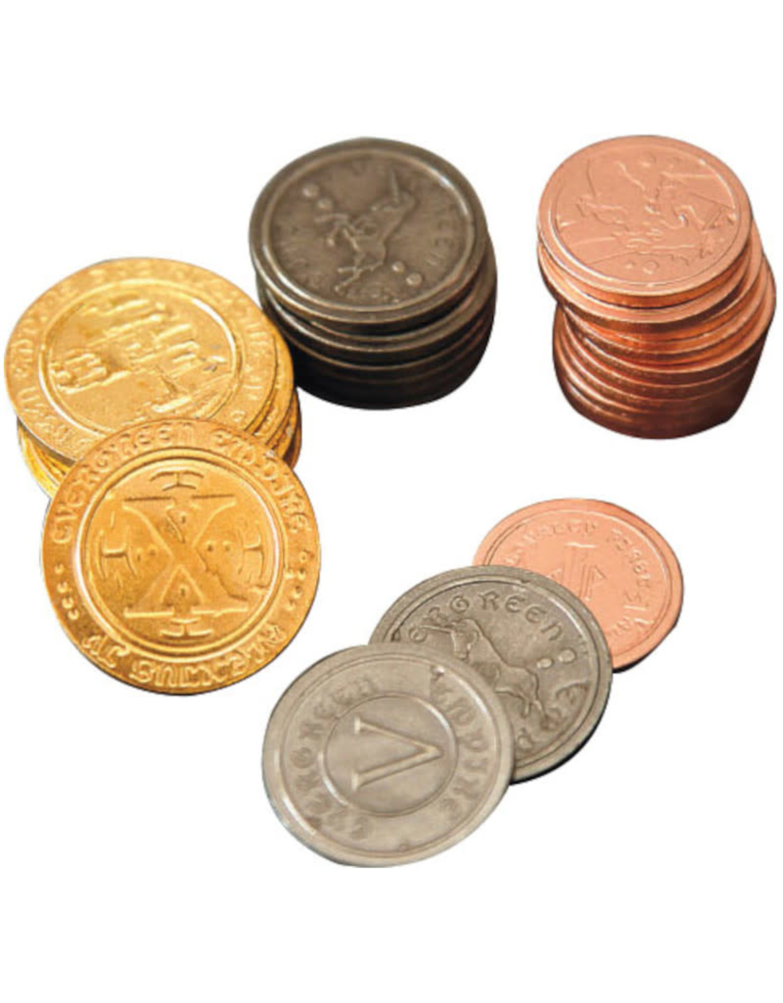 Mayday Games Board Game Upgrade Set: Metal Coins (50)