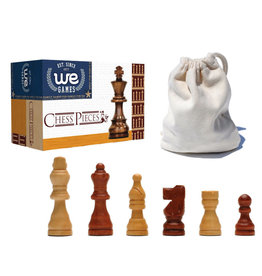 Chessmen: French Staunton  with 2.5 Inch King