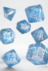 Q Workshop Elvish Dice Set Transparent/Blue (7)