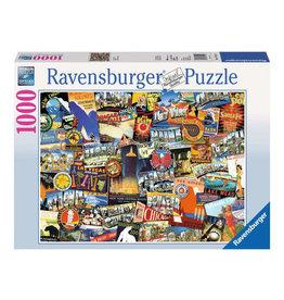 Ravensburger Road Trip USA Puzzle 1000 PCS