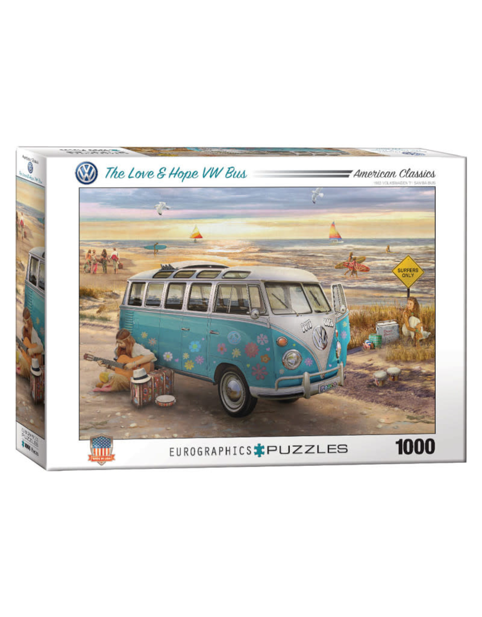 Eurographics Love and Hope VW Bus Puzzle 1000 PCS