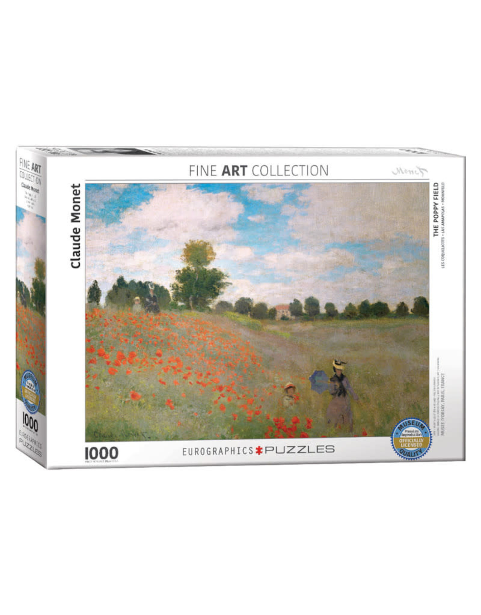 Eurographics Poppy Field Puzzle 1000 PCS (Monet)
