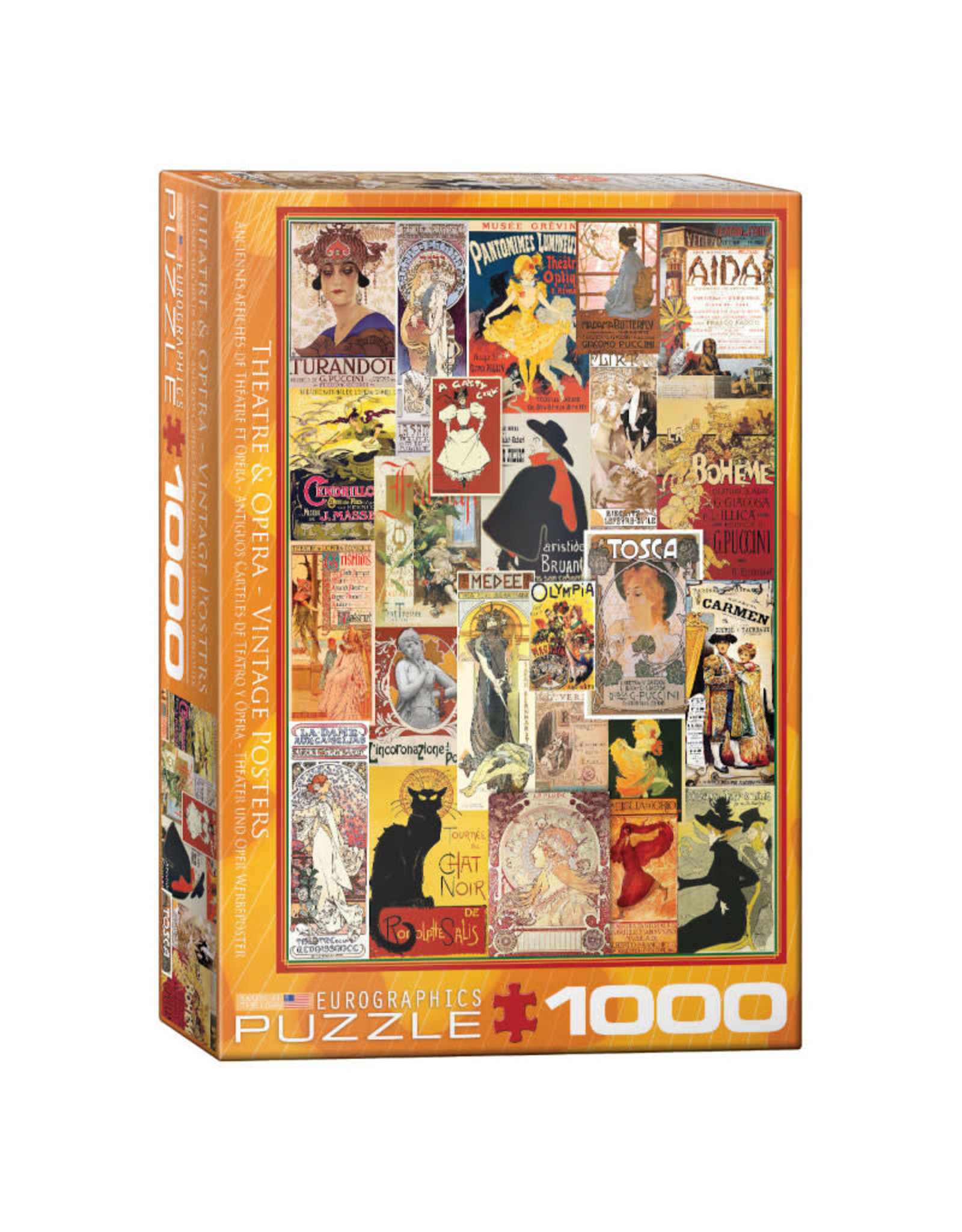 Eurographics Theater & Opera Vintage Posters  Puzzle 1000 PCS
