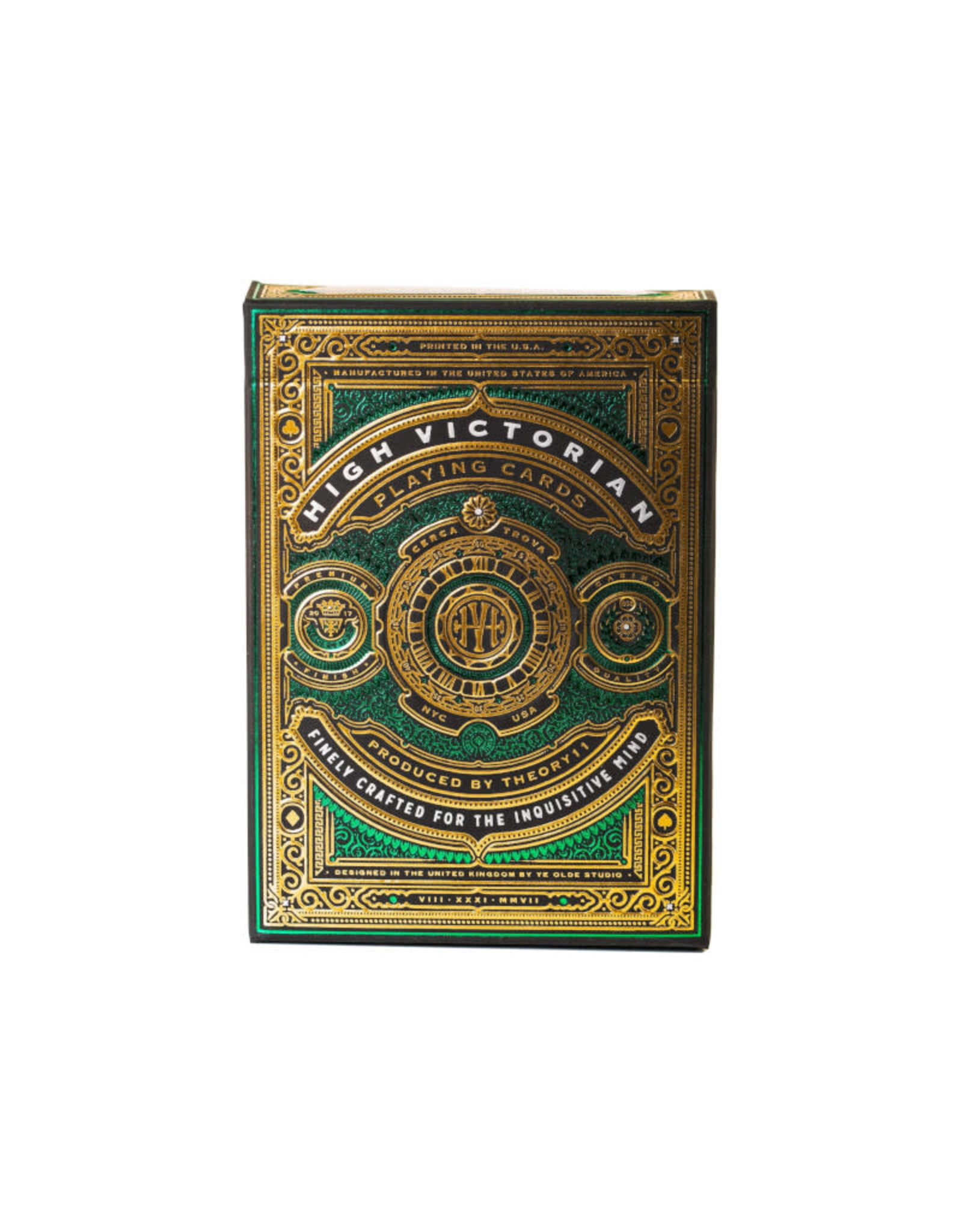 United States Playing Card Co Playing Cards: Bicycle Theory11 High Victorian (Green or Red)
