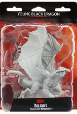 Wizkids D&D Unpainted Minis: Young Black Dragon