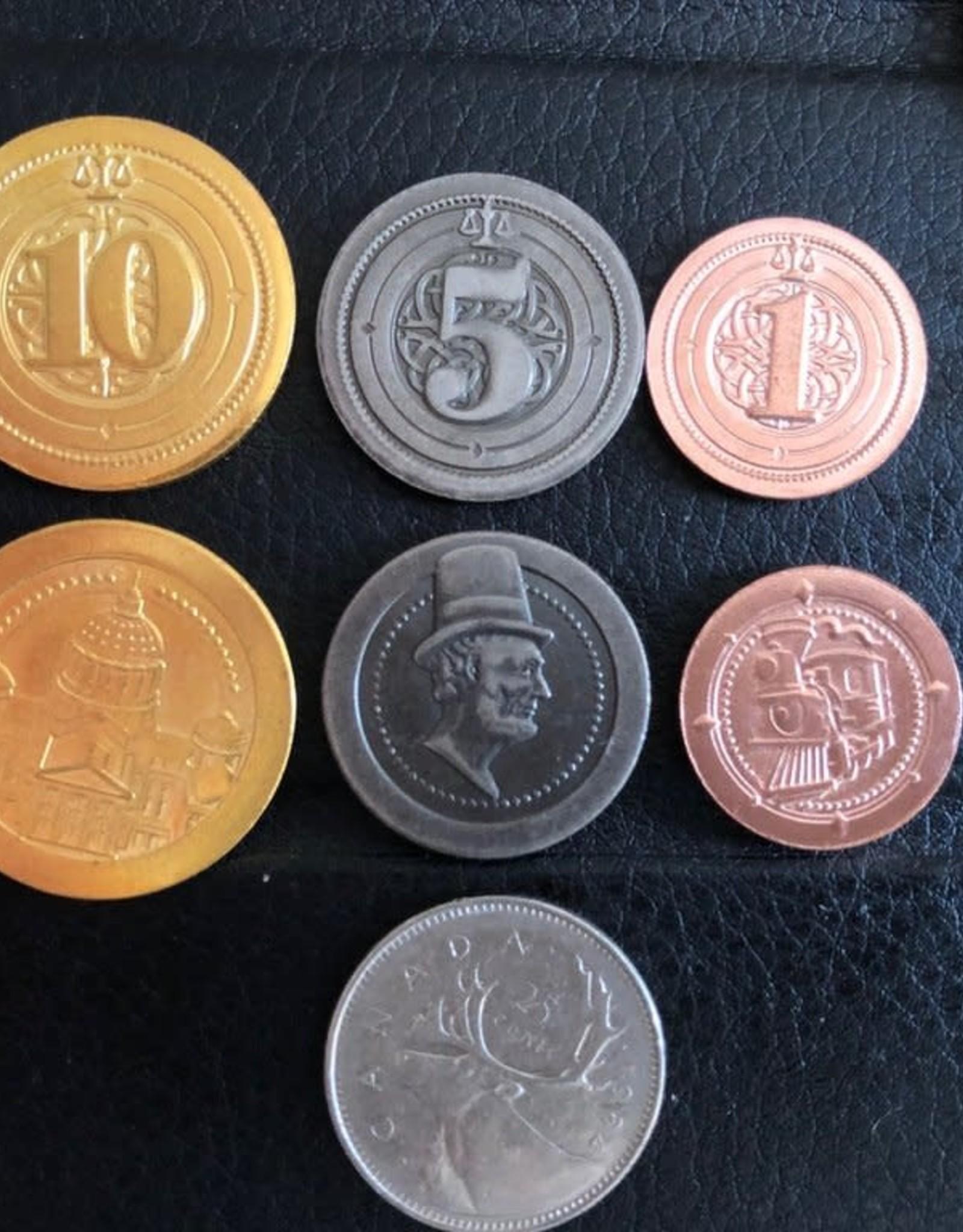 Mayday Games Board Game Upgrade Set: Metal Industrial Coins (50) (Pre-Order)